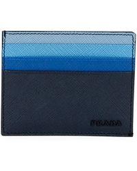 8de64dda6c0e Prada - Multicolor Saffiano Leather Card Case - Lyst