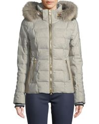 Bogner - Uma Down-filled Coat W/ Removable Hood & Fur Trim - Lyst