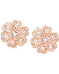 Jamie Wolf - Lilac Diamond Flower Stud Earrings - Lyst