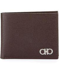 Ferragamo - Men's Revival Gancini Bi-fold Leather Wallet - Lyst