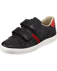 Gucci - New Ace GG Supreme Leather Sneakers - Lyst