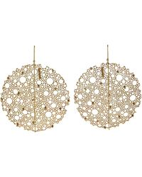 Ted Muehling - Yellow Gold Queen Anne's Lace Earrings - Lyst