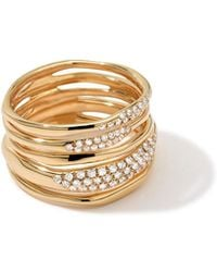Ippolita - Stardust Five-row Squiggle Ring With Diamonds - Lyst