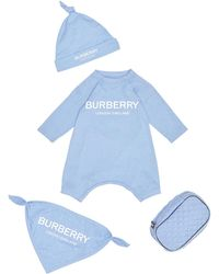 Burberry Maemae 3-piece Layette Set - Blue