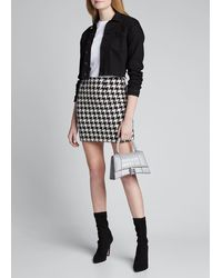 L'Agence Livia Houndstooth Mini Skirt - Black