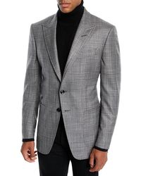 Tom Ford - Men's O'connor Wool-silk Prince Of Wales Plaid Blazer Jacket - Lyst