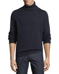 Brioni - Men's Wool Turtleneck Pullover Sweater - Lyst