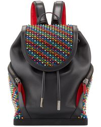 9a10f93273f Men's Explorafunk Rainbow Spiked Leather Backpack - Black