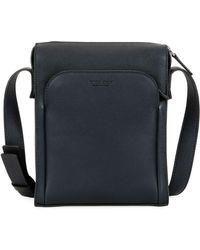 Giorgio Armani - Men's Tumbled Calf Leather Crossbody Bag - Lyst