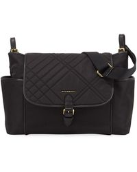 Burberry - Flap-top Quilted Diaper Bag - Lyst