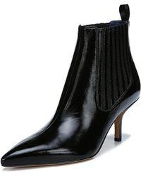 Diane von Furstenberg - Mollo Pointed Leather Booties - Lyst