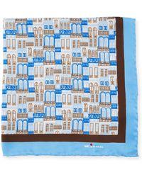 Kiton - City Windows Silk Pocket Square - Lyst