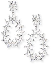 Fallon - Monarch Oversized Crystal Teardrop Earrings - Lyst
