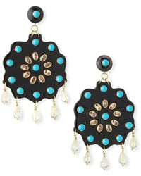 Ashley Pittman - Shauku Flower Drop Earrings - Lyst