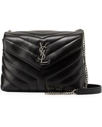 175ca07642e7 Saint Laurent - Loulou Monogram Ysl Small Y-quilted Leather Chain Bag - Lyst
