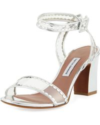 Tabitha Simmons - Leticia Frill Scallop Pvc Block-heel Sandal - Lyst