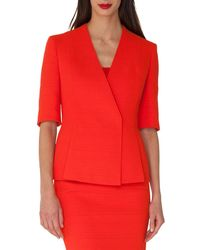 Akris - Structured Wrap-front Cardigan - Lyst