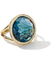 Ippolita - 18k Gold Rock Candy Lollipop Ring In Blue Topaz With Diamonds - Lyst