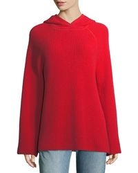 Elizabeth and James - Tristan Cashmere Hooded Waffle Sweater - Lyst