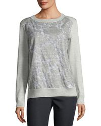 Lafayette 148 New York | Aralynn Floral Fil Coupe Jersey Top | Lyst