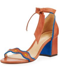 Alexandre Birman - Embroidered Knotted Sandal - Lyst