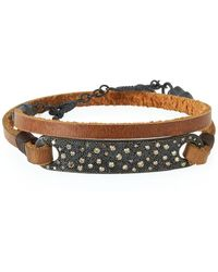 Armenta - Old World Midnight Leather Wrap Bracelet - Lyst