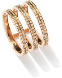 Repossi - Berbere Three-row Diamond Ring In 18k Rose Gold - Lyst