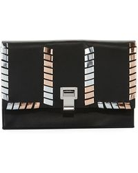 Proenza Schouler | Leather Whipstitch Small Lunch Clutch Bag | Lyst