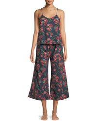 Desmond & Dempsey - Floral-print Camisole Pajama Set - Lyst