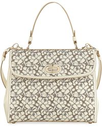 Ralph Lauren | Tiffin 33 Laser-cut Leather Lace Satchel Bag | Lyst
