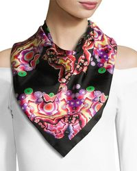 Givenchy - Square Silk Twill Kaleidoscope Scarf - Lyst