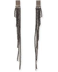 Brunello Cucinelli - Black Spinell Tiered Shoulder-duster Earrings - Lyst