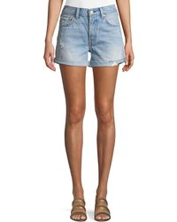 Levi's Premium - 501 North Beach Blues Mid-rise Denim Shorts - Lyst