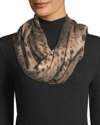 Lafayette 148 New York - Agave Leopard Square Scarf - Lyst
