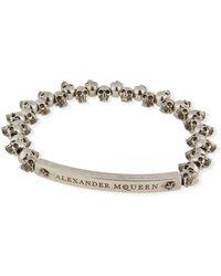 Alexander McQueen - Men's Brass Mini-skull Bead Bracelet - Lyst
