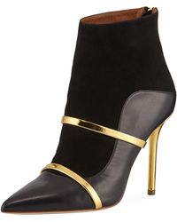 Malone Souliers - Madison 100mm Napa/suede Point-toe Bootie - Lyst