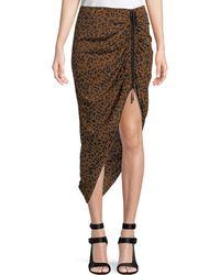 Diane von Furstenberg - Crepe Ruched Pencil Skirt - Lyst