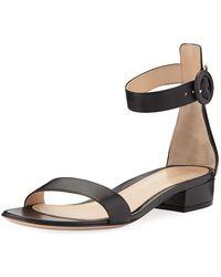 cf40d00dc40 Alexandre Birman Judy Python calfskin Block-heel D orsay Sandal - Lyst