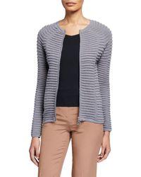 Giorgio Armani - Wave-knit Double-zip Jacket - Lyst