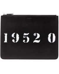 Givenchy - Codification Leather Pouch - Lyst