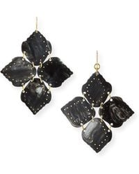 Ashley Pittman - Angalia Dark Horn Drop Earrings - Lyst
