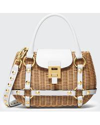 Michael Kors Rattan Mini Harness Basket Bag - Multicolour