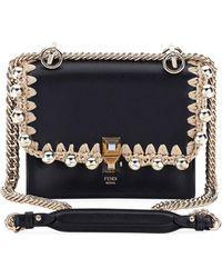 Fendi - Kan I Pearly Edge Chain Shoulder Bag - Lyst