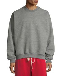 Fear Of God - Men's Long-sleeve Heathered Terry Crewneck Pullover - Lyst