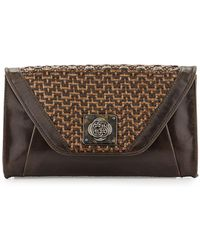 Elliott Lucca - Bali Cordoba Basketweave Leather Clutch Bag - Lyst