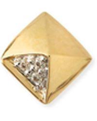 Sydney Evan - Gold & Diamond Pyramid Single Stud Earring - Lyst