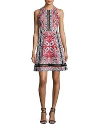 Nanette Lepore - Overboard Paisley Cross-back Dress - Lyst