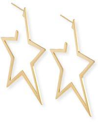 Jennifer Zeuner - Sade Large Star Hoop Earrings - Lyst