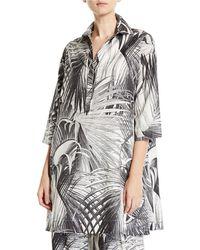 Co. - Long-sleeve Palm Print Tunic - Lyst