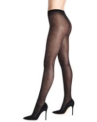 Wolford Night Sparkle Net Tights - Black